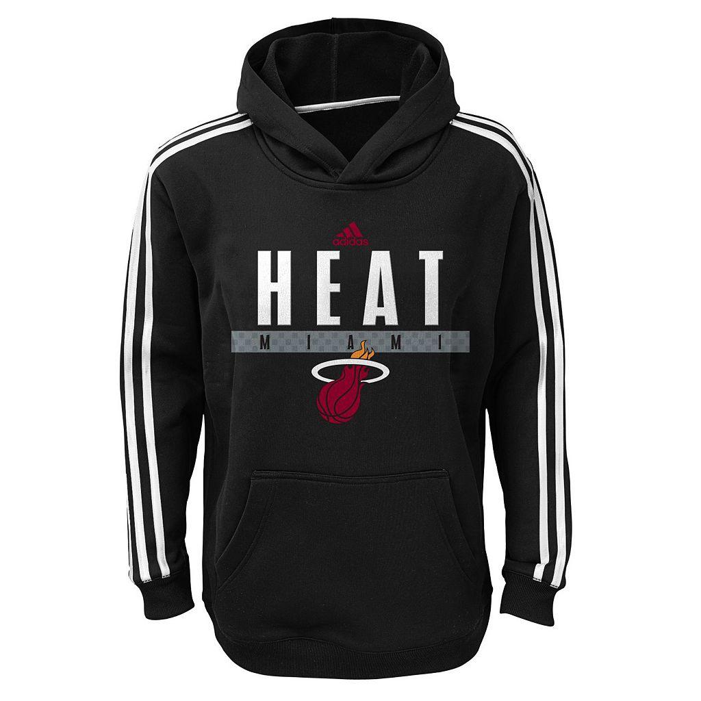 Boys 8-20 adidas Miami Heat Playbook Hoodie