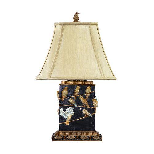 Dimond Birds On Branch Table Lamp