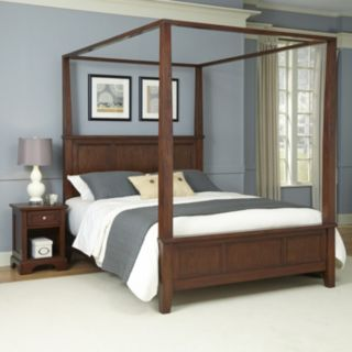 Home Styles 2-piece Chesapeake Canopy Bed and Nightstand Set