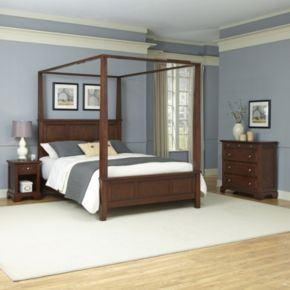 Home Styles 3-piece Chesapeake Canopy Bedroom Set