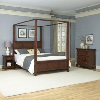 Home Styles 3-piece Chesapeake Canopy Bedroom Set