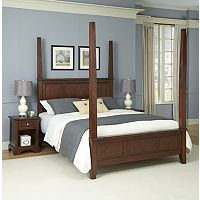 Home Styles 3 pc Chesapeake Nightstands and Poster Bedroom Set