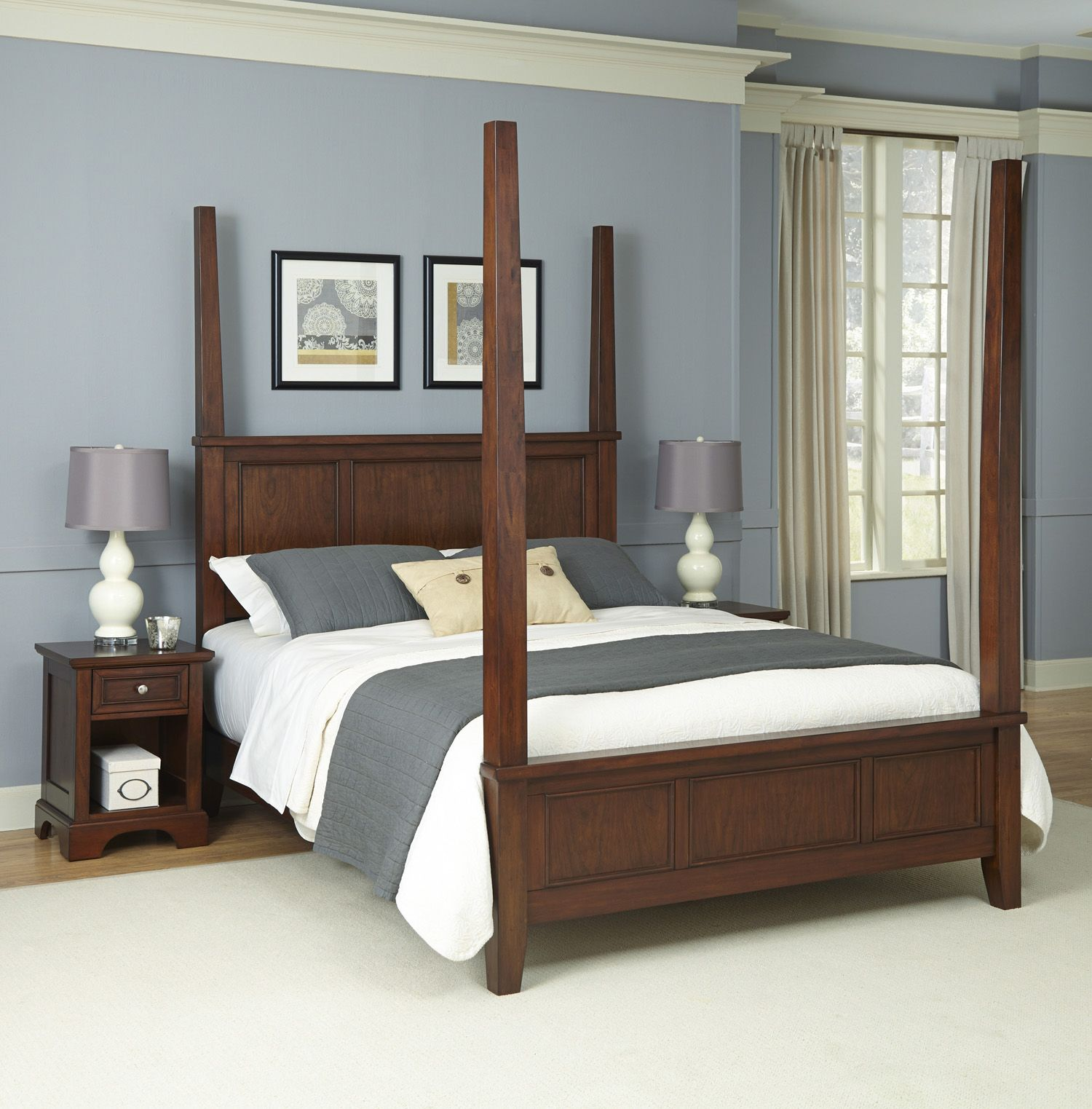 Epic Home Styles piece Chesapeake Nightstands and Poster Bedroom Set