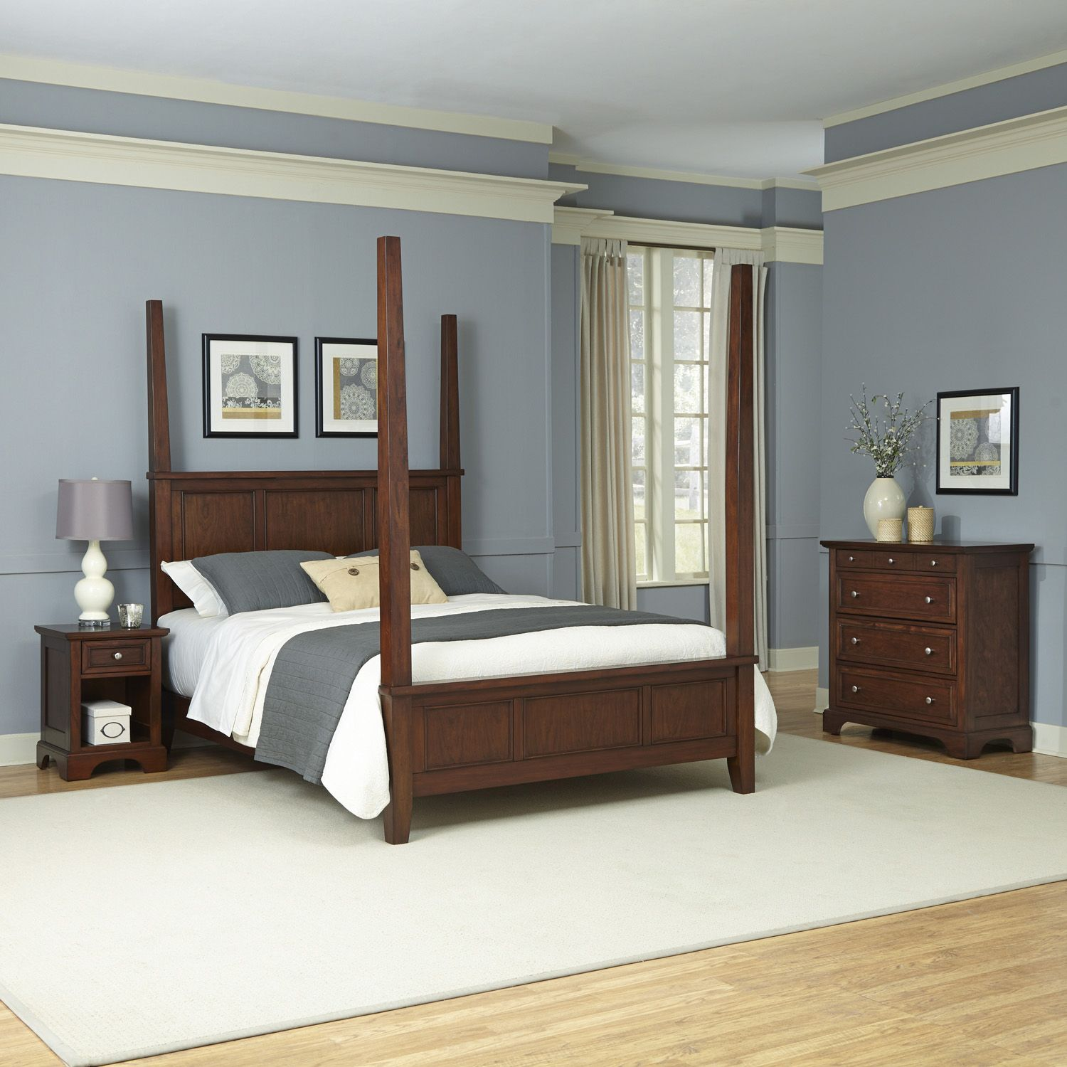 Fresh Home Styles piece Chesapeake Poster Bedroom Set