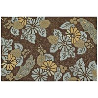Kaleen Home & Porch Morning Glory Floral Indoor Outdoor Rug