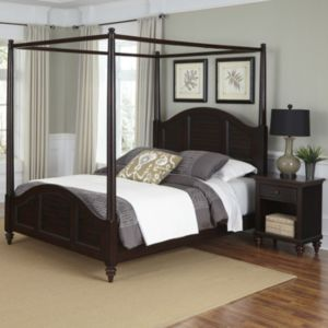 Home Styles Bermuda 2-piece Canopy Bed and Nightstand Set