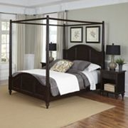 Home Styles Bermuda 3 pc Canopy Bed and Nightstand Set