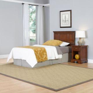Home Styles 2-piece Chesapeake Twin Headboard and Nightstand Set