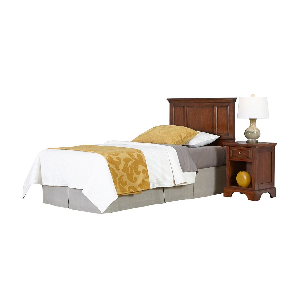Home Styles 2-piece Chesapeake Twin Headboard and Nightstand Set