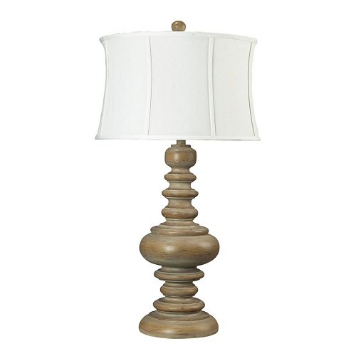 Dimond Moniac Bleached Wood LED Table Lamp