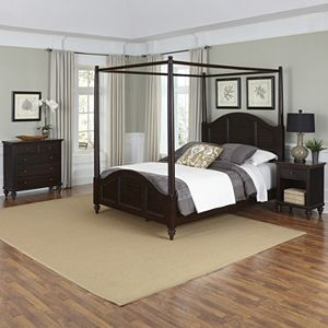 Home Styles 3-piece Bermuda Canopy Bedroom Set