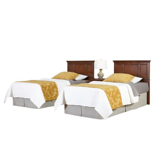 Home Styles 3-piece Chesapeake Twin Headboards and Nightstand Set