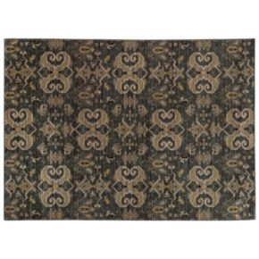 StyleHaven Legacy Traditional Airbrush Ikat Wool Rug - 9'10'' x 12'10''