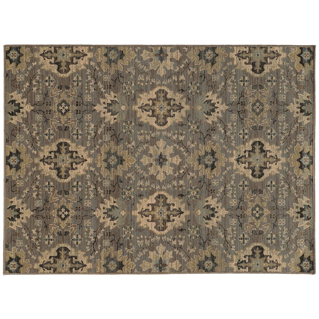 StyleHaven Legacy Faded Floral Ikat Wool Rug - 9'10'' x 12'10''