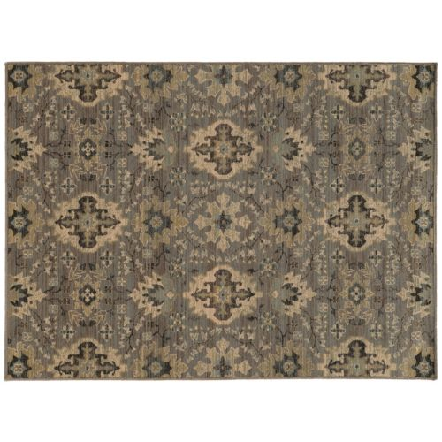 """StyleHaven Legacy Faded Floral Ikat Wool Rug – 9'10"""" x 12'10"""""""