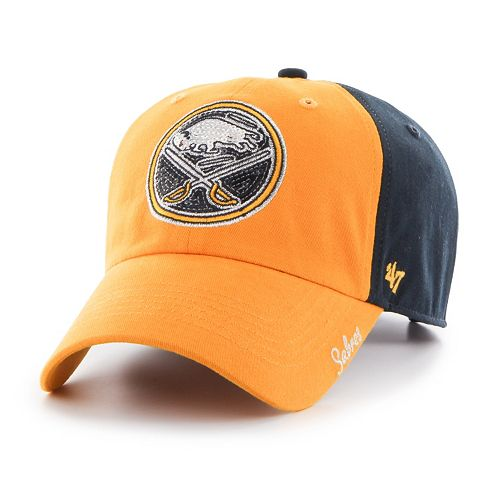 Women's '47 Brand Buffalo Sabres Sparkle Logo Clean Up Adjustable Cap