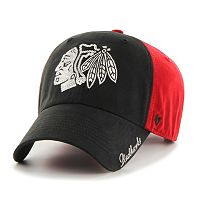 Women's '47 Brand Chicago Blackhawks Sparkle Logo Clean Up Adjustable Cap