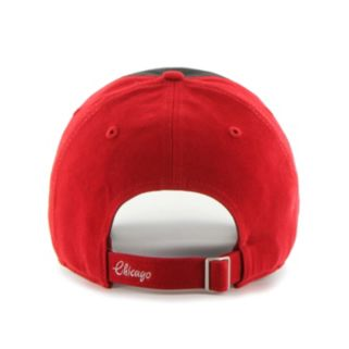 Women's '47 Brand Chicago Blackhawks Sparkle Logo Clean Up Adjustable Cap