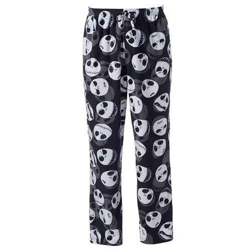 Men s Disney s The Nightmare Before Christmas Jack Skellington Fleece  Lounge Pants d3b63d4ea