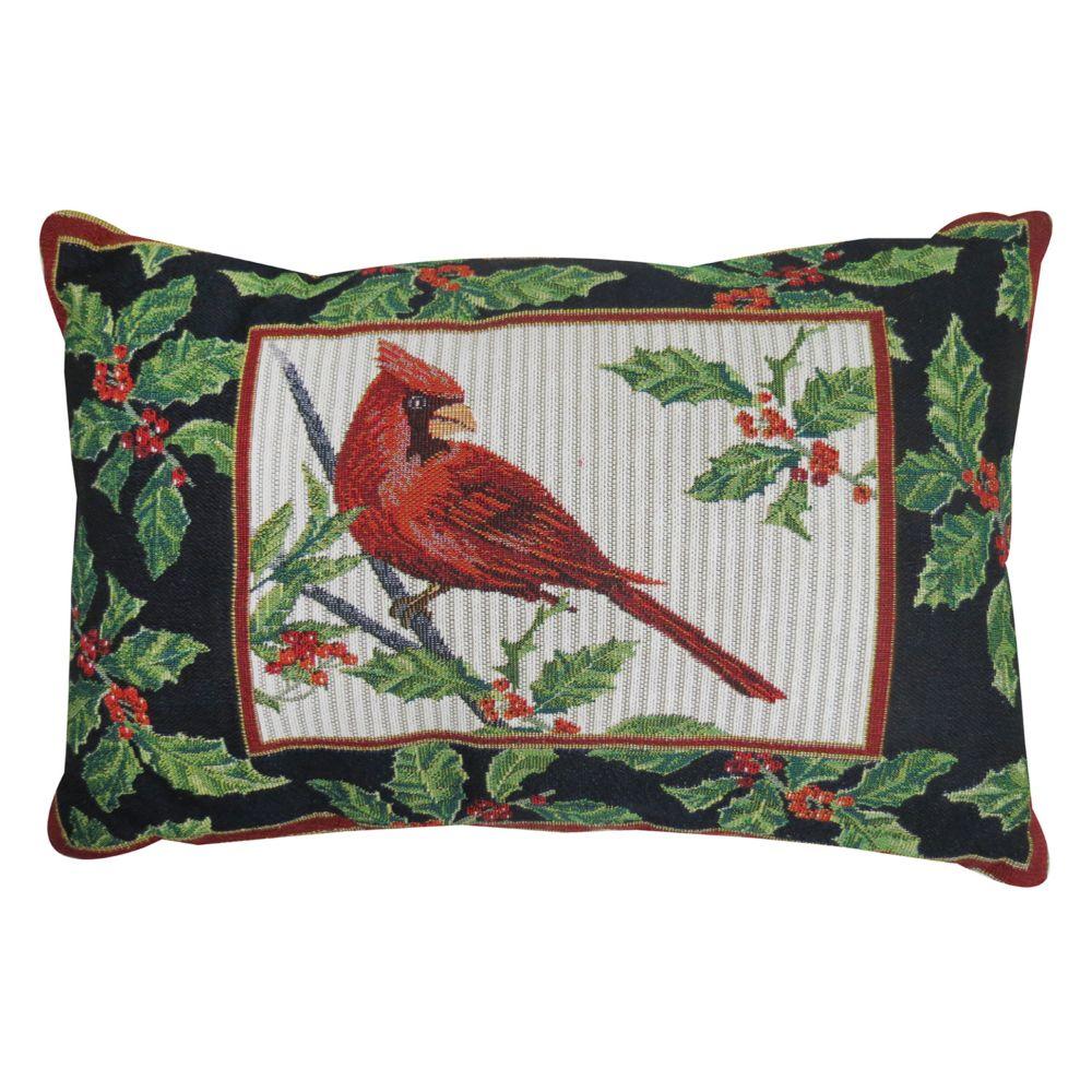 B. Smith Cardinal Throw Pillow