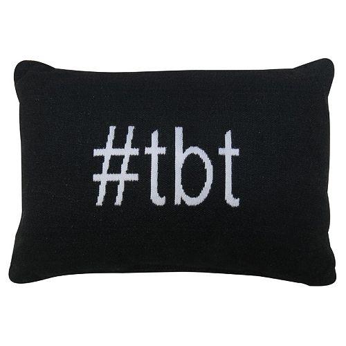 Park B. Smith ''Hashtag TBT'' Throw Pillow
