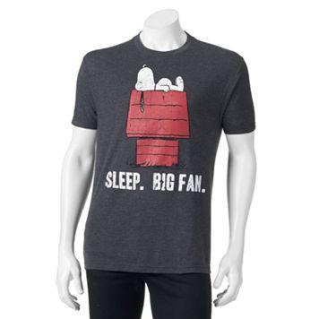 Peanuts Snoopy ''Sleep. Big Fan.'' Tee - Men