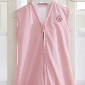 Breathable Baby Dahlia Applique Wearable Blanket - Baby Girl