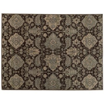 StyleHaven Legacy Airbrush Floral Ikat Wool Rug - 9'10'' x 12'10''