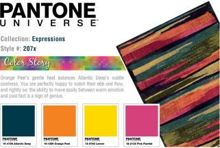 PANTONE UNIVERSE™ Expressions Color Streaked Abstract Rug - 9'9'' x 12'2''