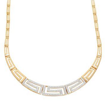 18k Gold Over Silver Greek Key Necklace