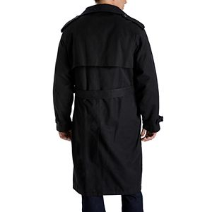 Men's Towne by London Fog Classic-Fit Double-Breasted Microfiber Belted Trench Coat
