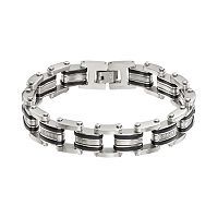 1/5 Carat T.W. Diamond Stainless Steel & Resin Bracelet - Men