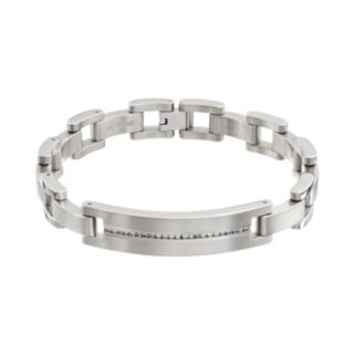 1/2 Carat T.W. Diamond Titanium Bracelet - Men