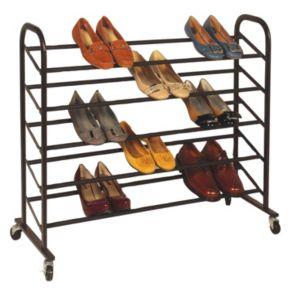 Richards Homewares 25-Pair Rolling Shoe Rack
