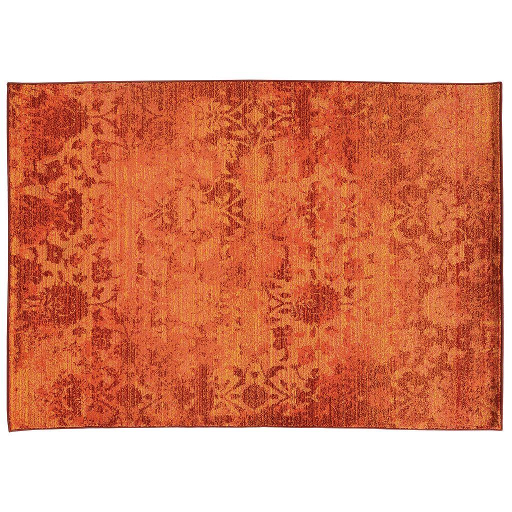 PANTONE UNIVERSE™ Expressions Orange Ornate Floral Rug - 9'9'' x 12'2''