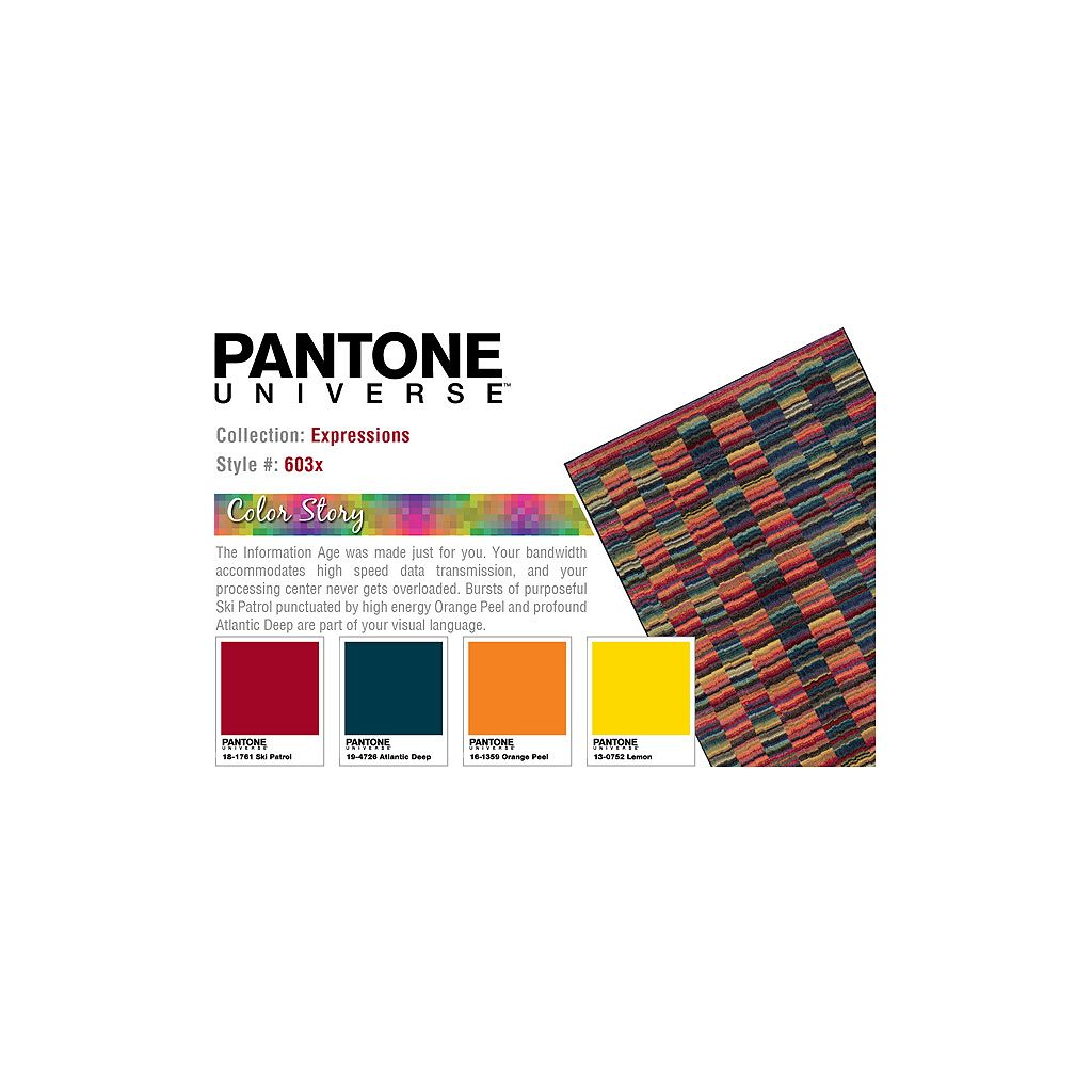 PANTONE UNIVERSE™ Expressions Multi Lines Abstract Rug - 9'9'' x 12'2''