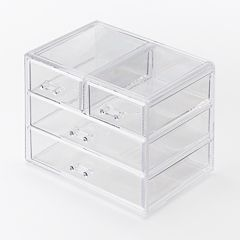 Richards Homewares Clearly Chic 4-Drawer Cosmetic Organizer