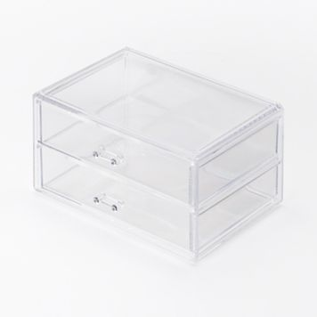 Richards Homewares Clearly Chic 2-Drawer Cosmetic Organizer