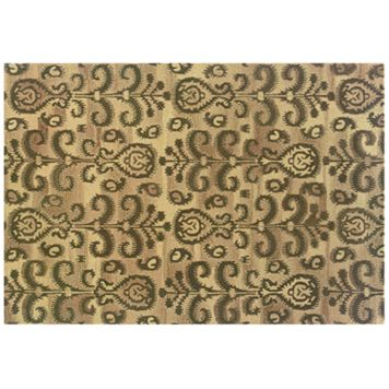 StyleHaven Anna Floral Ikat Wool Rug - 10' x 13'