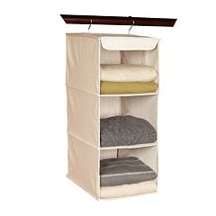 Richards Homewares Loft Natural 3-Shelf Hanging Sweater Organizer