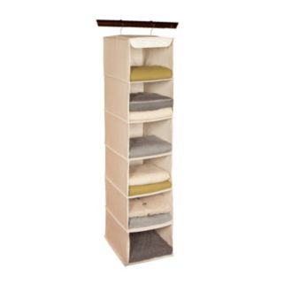 Richards Homewares Loft Natural 6-Shelf Hanging Sweater Organizer