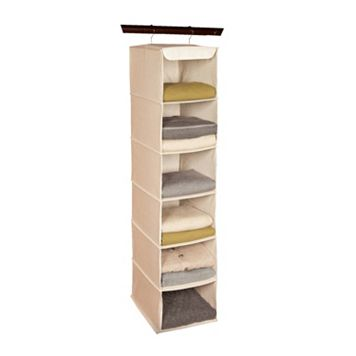 Richards Homewares Loft Natural 6-Shelf Hanging Sweater Organizer