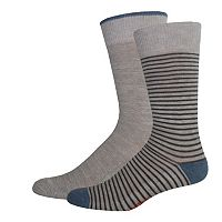 Men's Dockers® Striped & Solid Slubbed Crew Socks