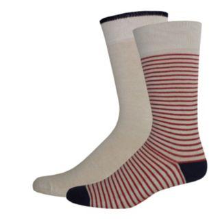 Men's Dockers® Striped & Solid Slubbed Crew Socks
