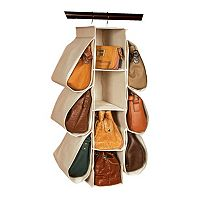 Richards Homewares Loft Natural 10-Pocket Hanging Purse Organizer