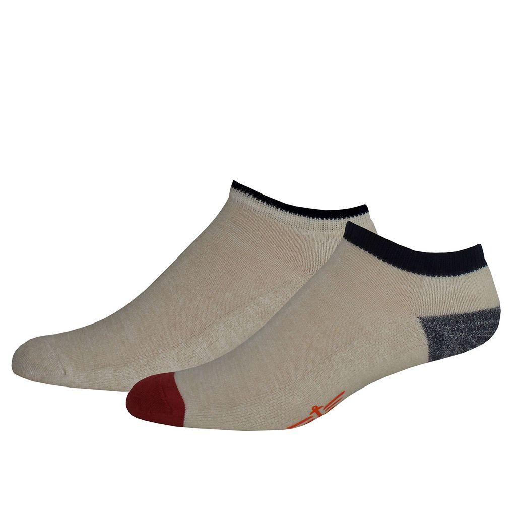 Men's Dockers® Contrast Slubbed Low-Cut Socks