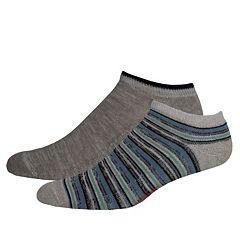 Men's Dockers® Striped & Solid Slubbed Low-Cut Socks