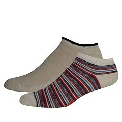 Men's Dockers® Striped & Solid Slubbed Low-Cut Socks