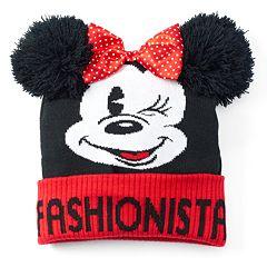01479758b84 Disney s Minnie Mouse Women s  Fashionista  Pom-Pom Beanie Hat
