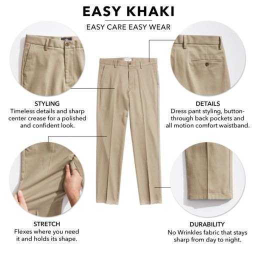 Men's Dockers Relaxed-Fit Easy Khaki Pleated Pants